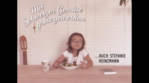 Mit Schweizer Gemüse gross geworden … Stefanie Heinzmann