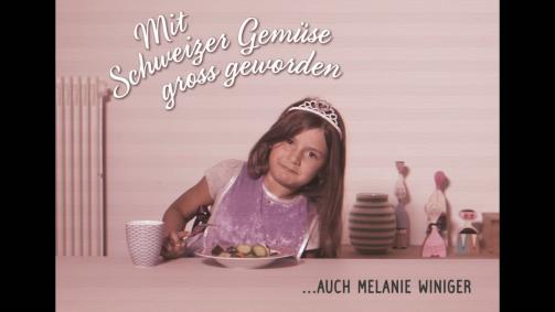 Mit Schweizer Gemüse gross geworden … Melanie Winiger